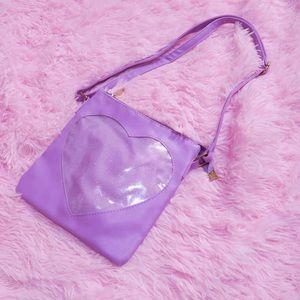 Lavender Heart Crossbody